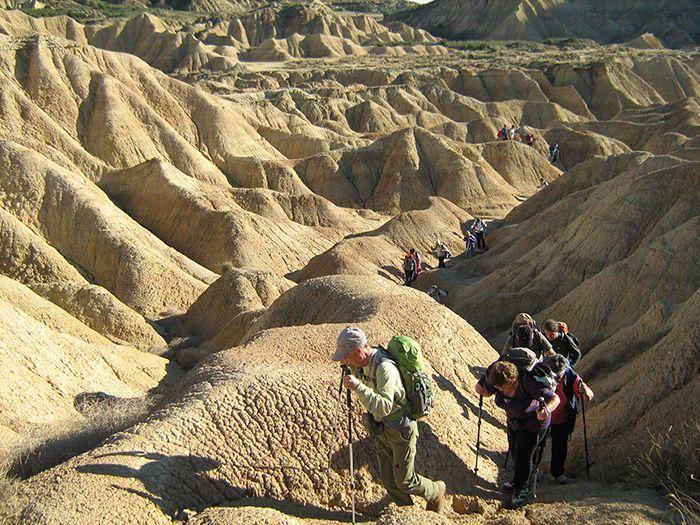 Image Randonnée dans les Bardenas Reales, le désert des Pyrénées