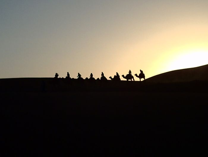 Image Les dunes rouges de Merzouga