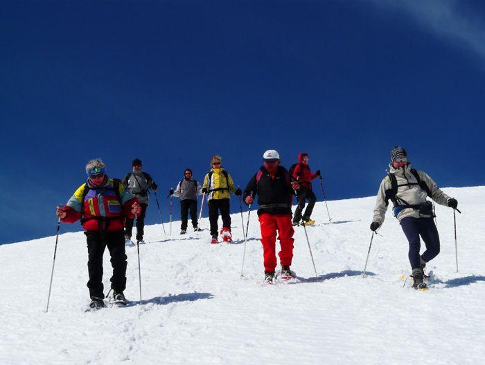 Voyage à pied : Pyrénéees : Montgarri, raquette à neige dans les Pyrénées