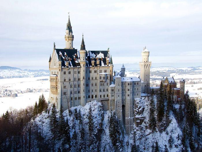 Voyage à la neige : Raquettes et bien-être aux châteaux de Bavière